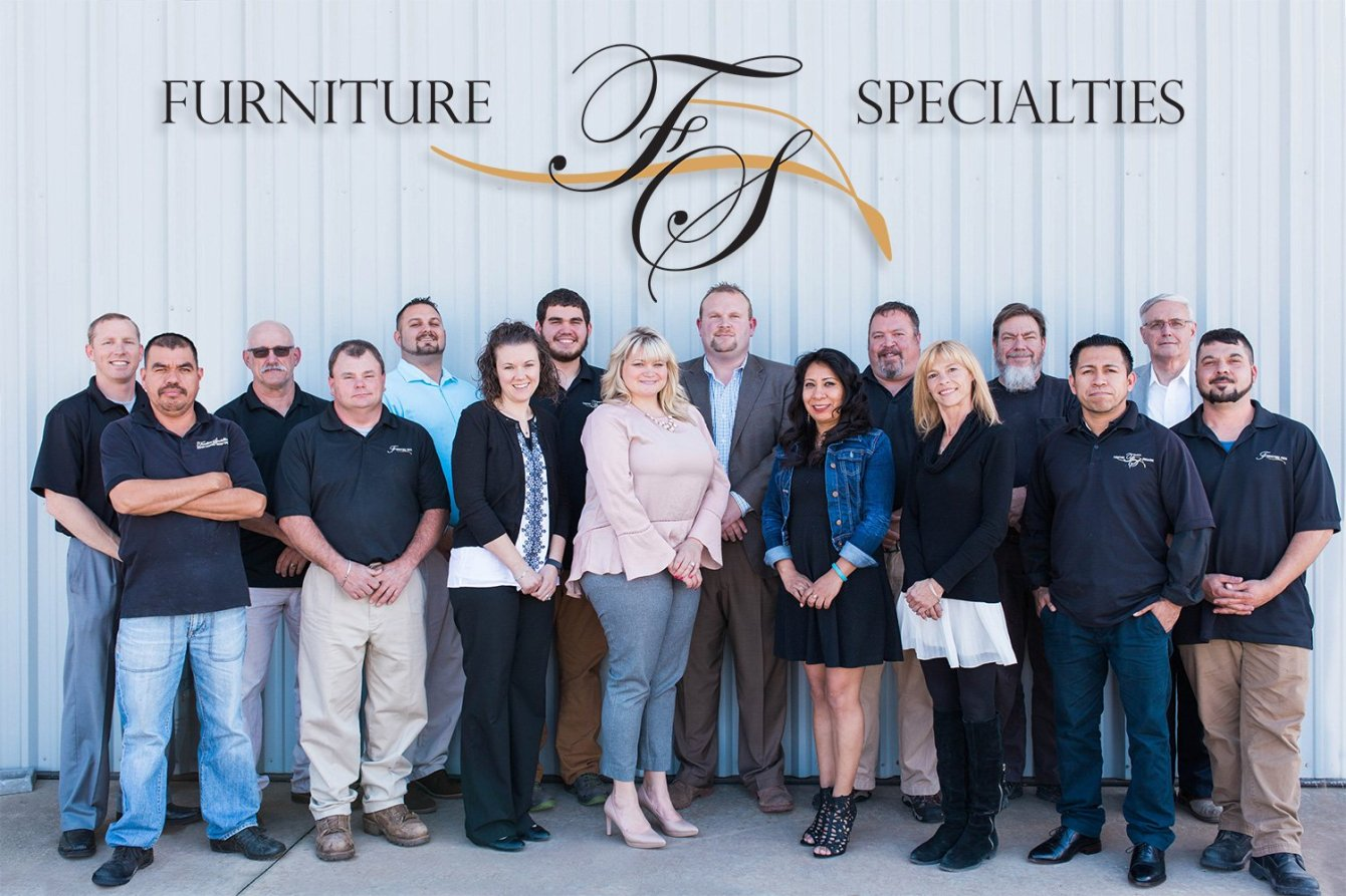 The owners and staff of Furniture Specialties. We specialize in custom-made furniture, made locally in Asheville, NC.