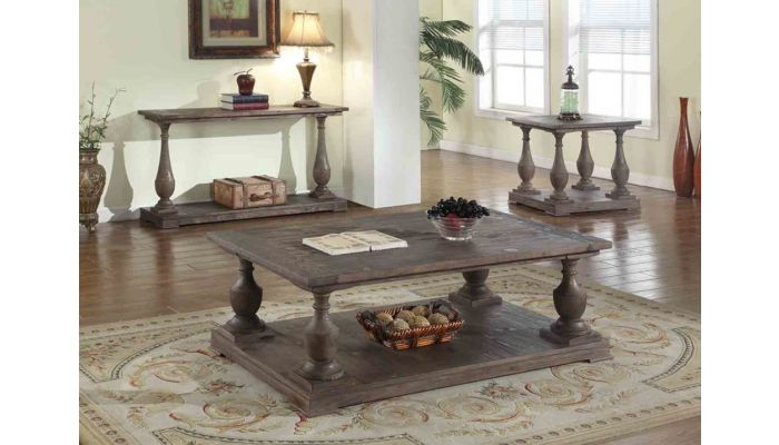 dream coffee table rustic brown finish