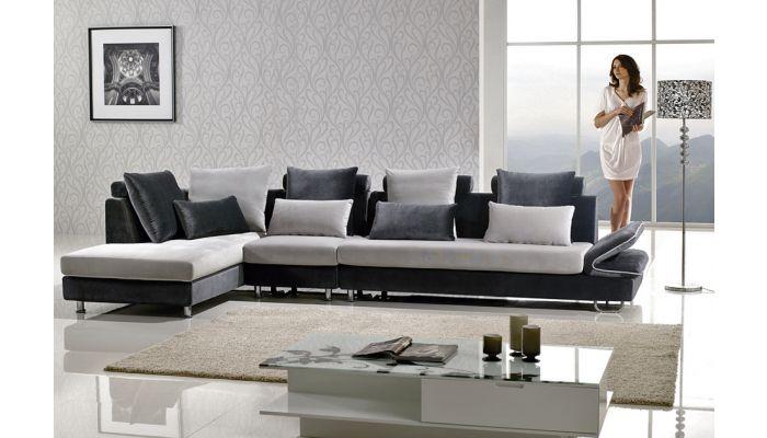 leon two tone microfiber sectional sofa