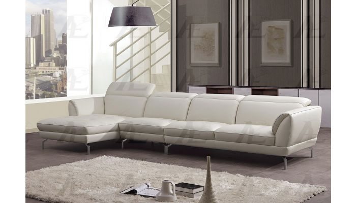 justian white leather sectional sofa set