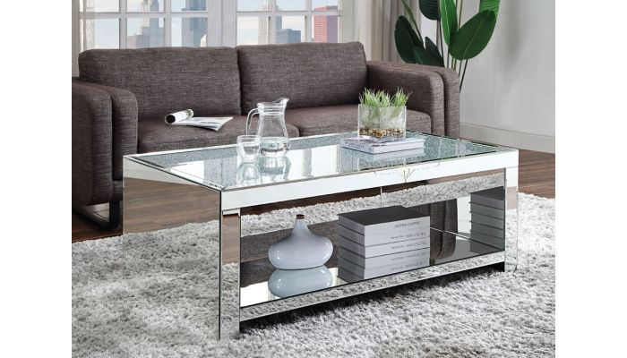 lavern mirrored coffee table