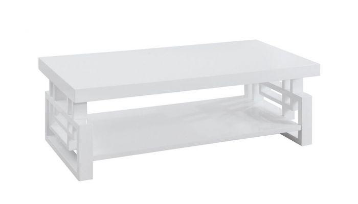 zircon modern coffee table white finish
