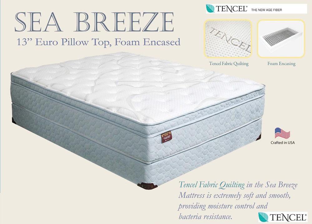 sea breeze euro pillow top mattress