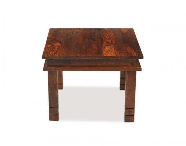 oak city maharajah indian rosewood chunky coffee table 60 x 60 furniture world