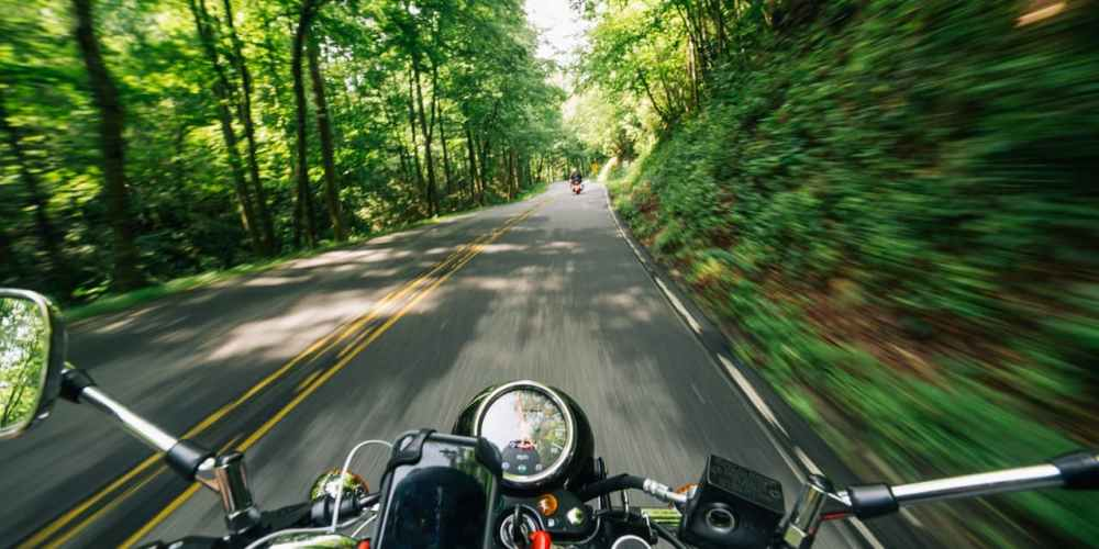 Motorcycle from rider's perspective