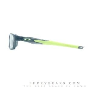 Smoke Grey Lime Green Ear Sock Temple Oakley Crosslink