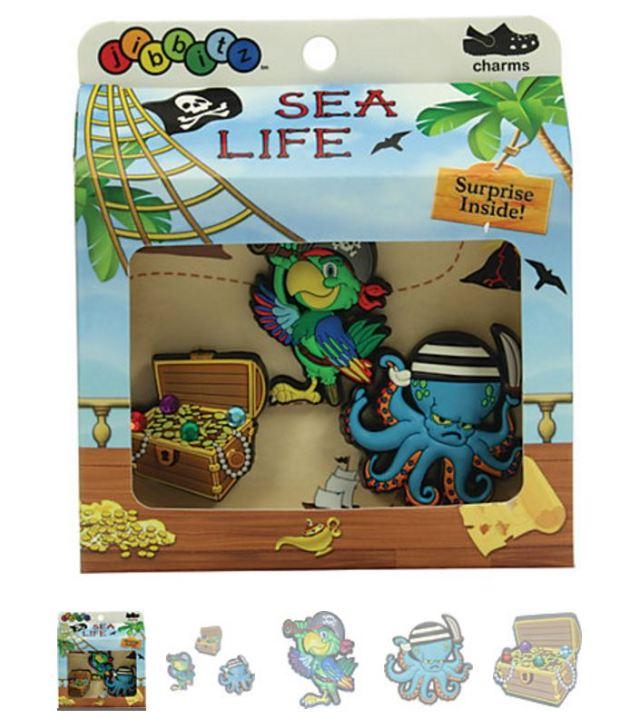 Sea Life Boys' 3-pack Crocs Shoe Charms