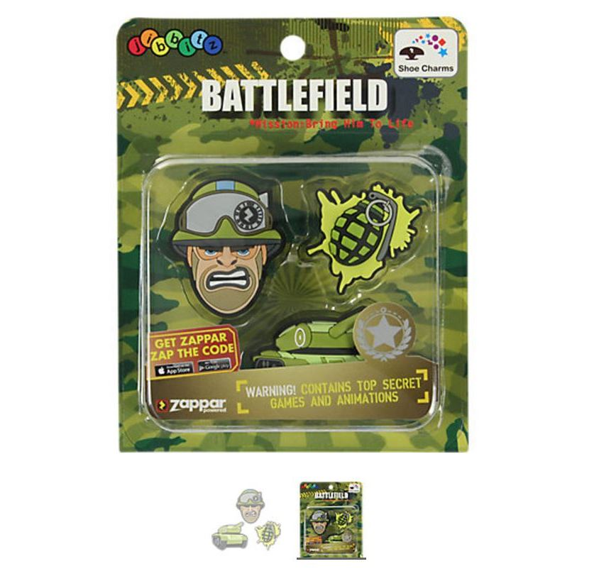 Zappar Military 3-pack 1 Crocs Shoe Charms