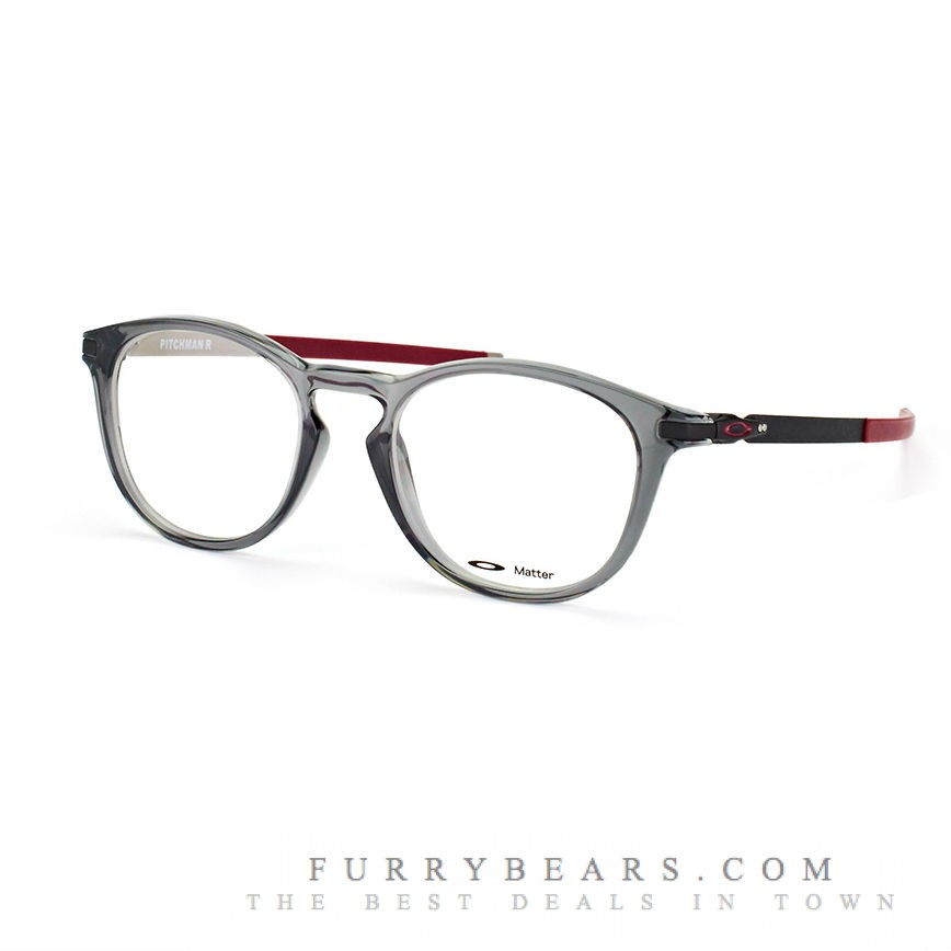 Oakley Pitchman R OX 8105 02 grey smoke black - maroon matt