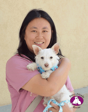 Hero foster mom, Christine Law & Chappie
