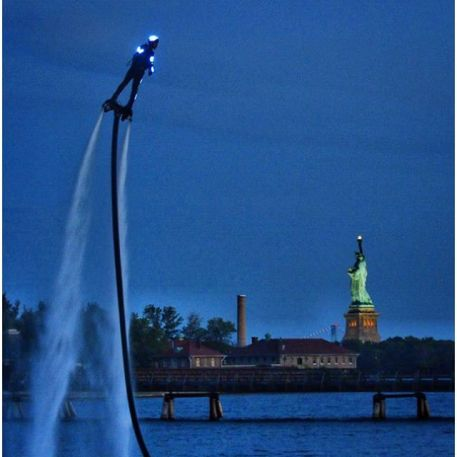 Damone Rippy, Flyboard over New Yorkc City for America's Got Talent