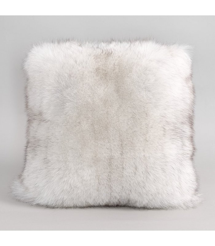 full pelt blue fox fur pillow