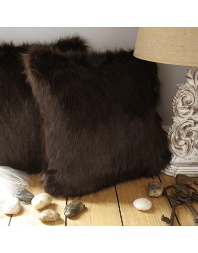 faux fur cushion brown bear brown fur pillow brown fur cushions