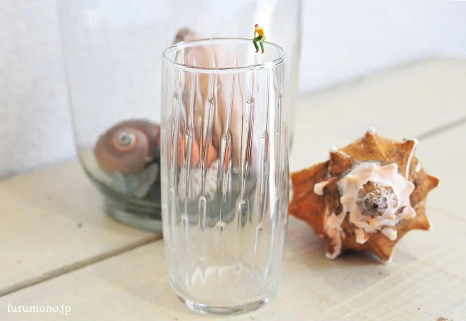 リサイクルショップで30円の涼しげなグラス