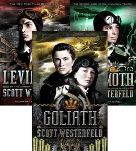 The entire Leviathan Series in all its glory. If it sounds interesting to you, I hope you check it out!