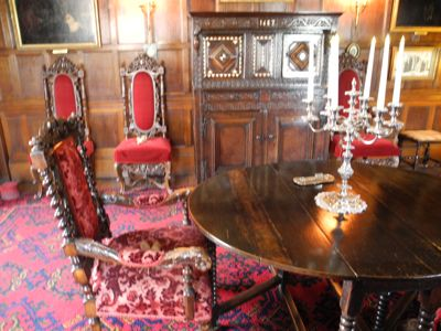 The dining room as it looks today at Baddesley Clinton.