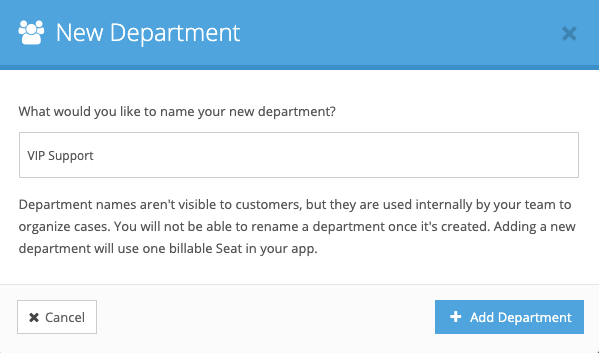 Adding a Department in FuseDesk