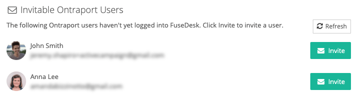 Invitable Ontraport Users in FuseDesk