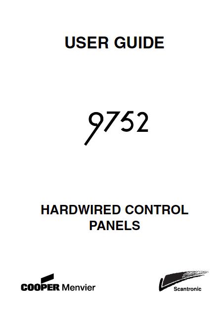 Scantronic 9752 User Manual