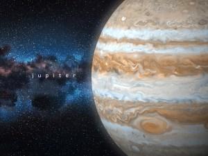 space wallpaper Jupiter Planet Mural