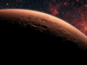 space wallpaper Mars Planet Mural