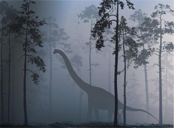 Dinosaur mural wallpaper