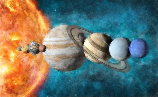 solar system wallpaper mural