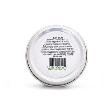 Fusion CBD Hemp Salve Back Label