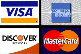 We accept Major Credit Card: