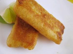 Backbone of fish tacos