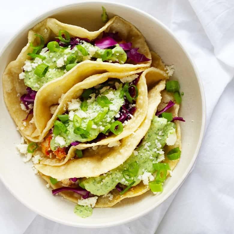 Baja Fish Tacos with Creamy Jalapeño and Avocado Salsa. Perfect for Cinco de Mayo!   Fusion Craftiness
