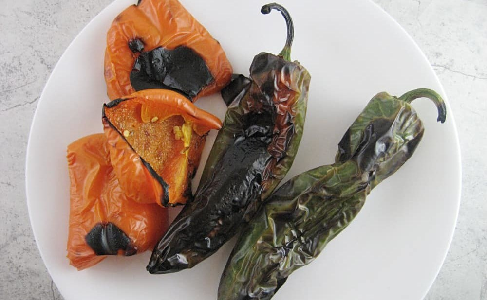 Roasted Bell Peppers and Jalapeño, the bones of the Harissa goodness!