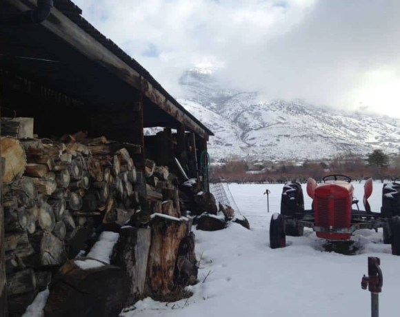 Tractor on The Farm in Winter