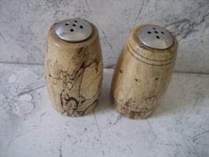 Salt & Pepper Shaker Set made of Spalted Tamarind.