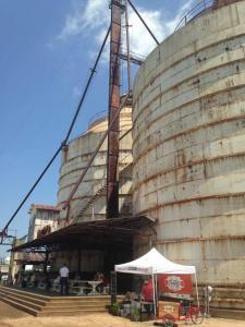 The silos at Magnolia Market