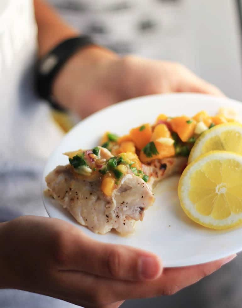 Apricot Salsa Recipe, perfect with fish, chicken or whatever!