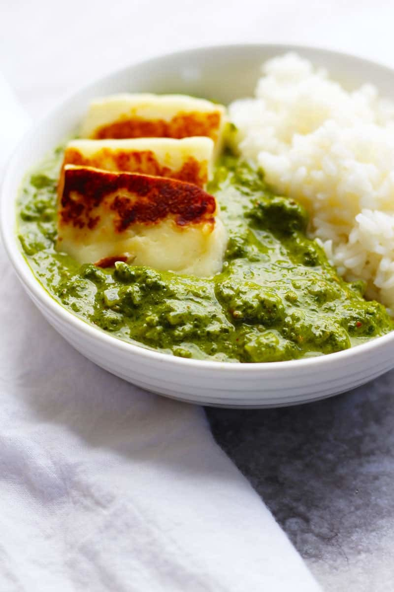 Spinach Curry with Paneer Cheese | Palak Paneer