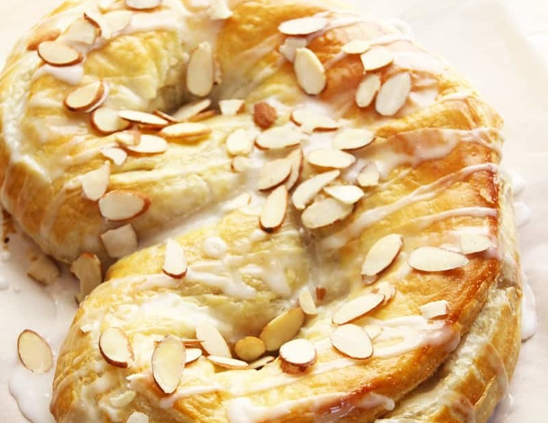 Everyday Apricot & Almond Kringle. An easy Kringle in under an hour. Apricots, almonds, brown sugar and cinnamon delivers a fantastic Danish Kringle.