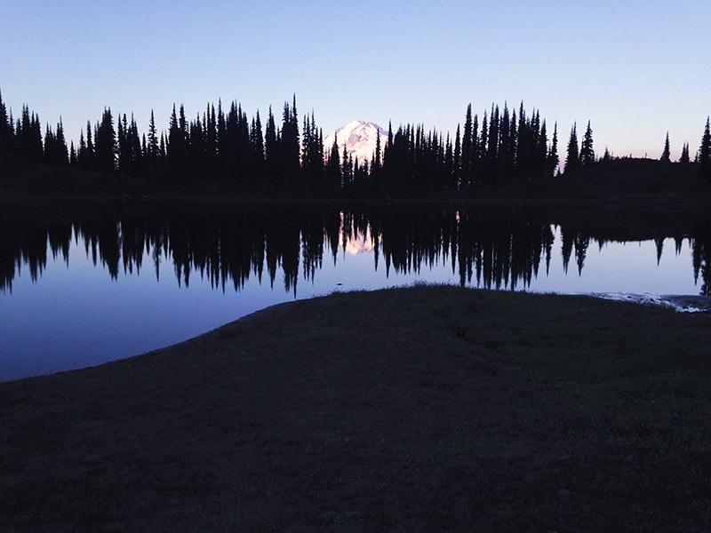 Glacier National Peak on Image Lake