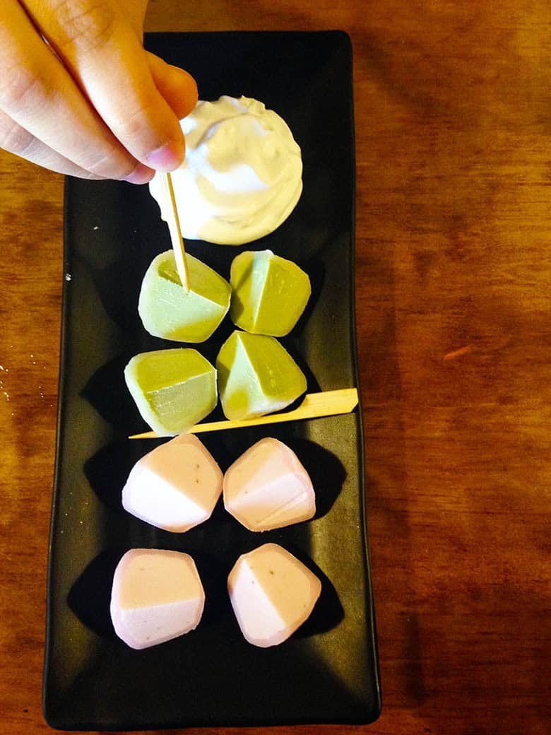 Trying Mochi for the first time.