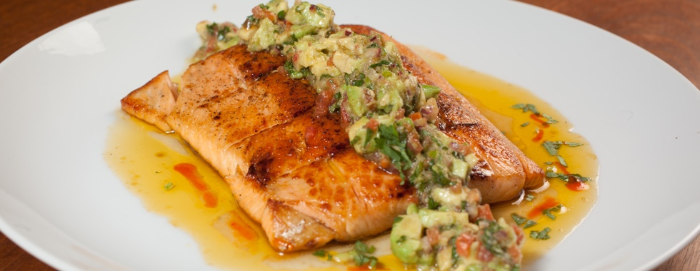 Fusion Flair Palm Springs Caterer Salmon