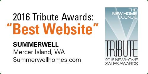 "2016 Tribute Awards ""Best Website"""