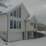 Bilde av huset vårt tatt i dag.