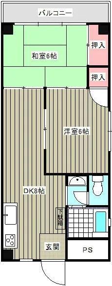 ヤマサ 山崎コーポ201・401間取