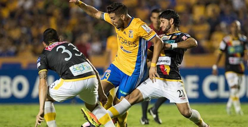Tigres fue claramente superior a un timorato Herediano para avanzar a la siguiente ronda. Foto: CONCACAF