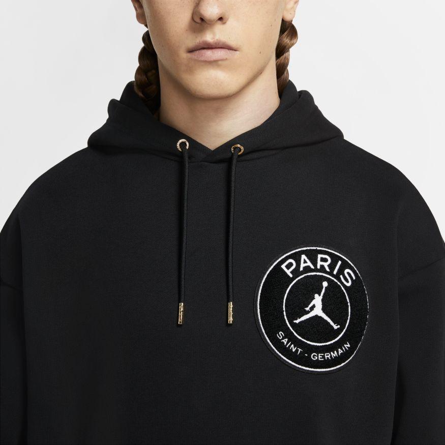 nike jordan x paris saint germain pullover taped hoodie 2020 2021 sweatshirt