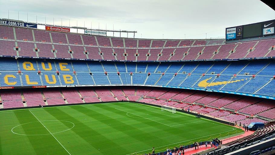 Reflexión sobre el FC Barcelona de Joan Estella. Vista del Camp Nou
