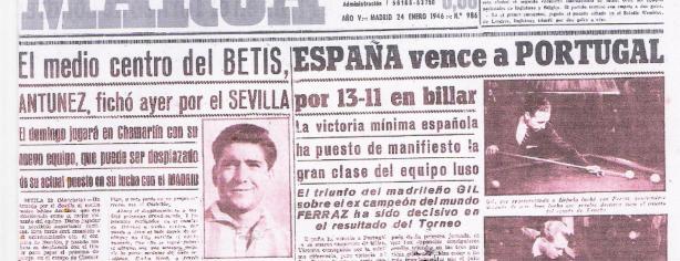 El diario Marca informando del traspaso de Antúnez al Sevilla