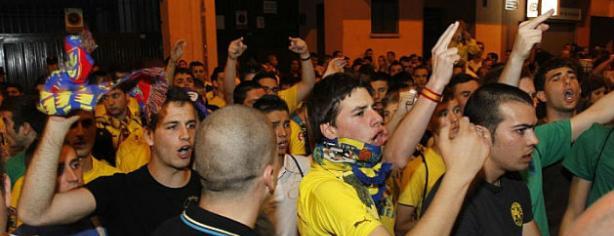La afición del Villarreal lamenta el descenso