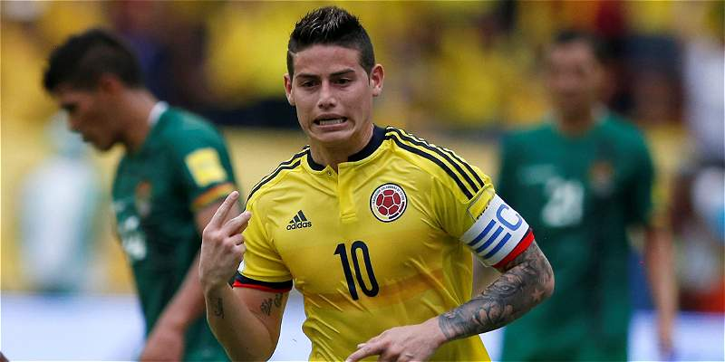 James Rodríguez Colombia Bolivia Eliminatoria Rusia 2018
